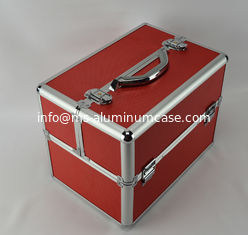 China Multi Color Diamond ABS Aluminum Makeup Train Box , Protable Cosmetic Vanity Case supplier