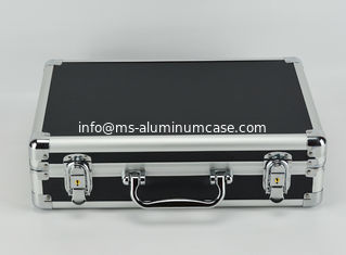 China Black Professional Aluminum Tool Case For Carrying Tool Separated Lining supplier