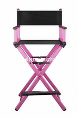 China Aluminum Professional Makeup Chair For Salon Light Weight Pink Color supplier