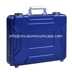 China MS-M-05 Anodize Blue Aluminum Suitcase Briefcase For Sale Aluminum Model Case supplier