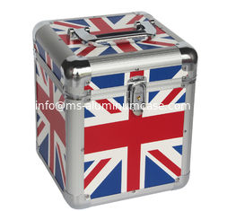 China 7'' Union Jack Flag Aluminum Carry Cases For Lp 50pcs, UK Flag Aluminum Cases supplier