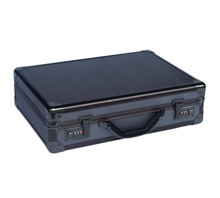 Multi - Purpose Black Aluminium Briefcase , Pilot Aluminum ...