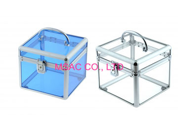 Acrylic Cosmetic Cases/White Acrylic Cosmetic Cases/Cosmetic Carry Cases
