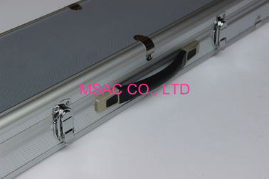 ABS Aluminum snooker or pool cue cases silver color
