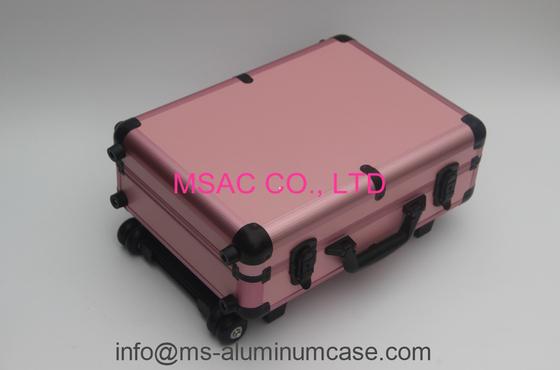 Pink Aluminum Makeup Cases With Light/Aluminum Trolley Cases with Light/Light Cases
