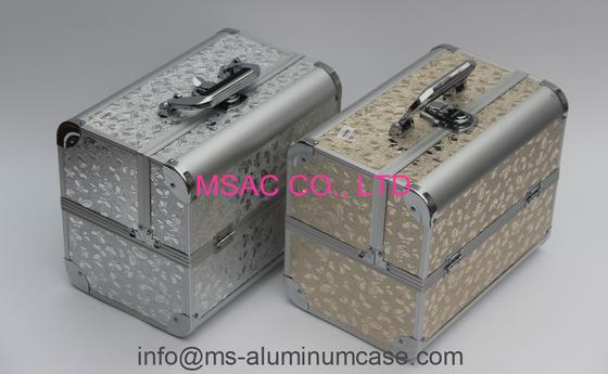 Black Aluminum Cosmetic Train Cases