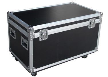 Black Flight Case For Carrying Equipment With Wheels