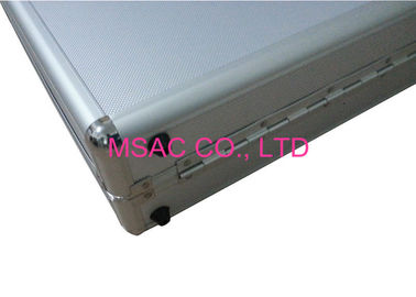 China Wear Resistant Aluminum Hard Case Silver With Die Cut EVA Foam Inside factory
