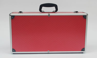 China Red Aluminum Carrying Case , Light Weight Aluminium Hard Case With Foam factory
