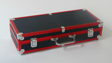 China Anodize Aluminum Hard Case No Lining With Plastic Panel Latches Red + Black factory