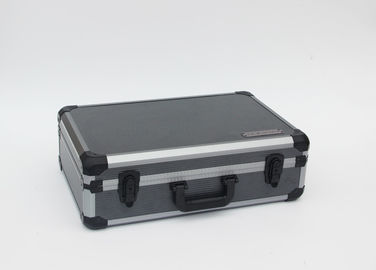 China 2.2 kgs Gray Aluminum Hard Case With Striped Panel And Die Cut Modeled Inside factory