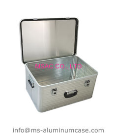 Custom Lockable Aluminum Hard Case Silver Middle Size 1.2 Kgs Wear Resistant