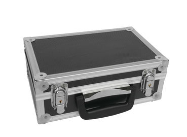 China Light Weight Small Aluminum Tool Case Black ABS Material And Aluminum Frame factory