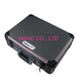 China Gray Lockable Aluminum Tool Case ABS With Aluminum Frame L 450 X W 330 X H 145mm factory