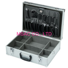 China 2.5 Kgs Aluminum Hand Tool Boxes , Durable Aluminum Briefcase Tool Box factory