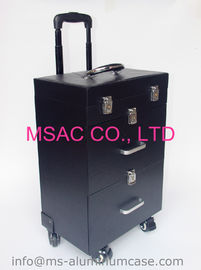 Professional Trolley Aluminium Beauty Case With Wheels PVC Lining Waterproof