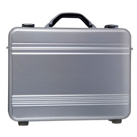 Lockable Silver Aluminum Attache Case Fabric Lining 410 X 300 X 88mm