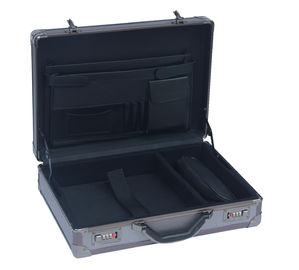 Professional Grey Aluminum Attache Case Embossed Diamond Surface 460 * 330 * 135mm
