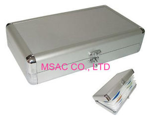 Sliver Aluminium DVD Storage Case , One Lock Aluminium DVD Storage Boxes