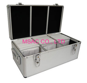300 / 500 Aluminium CD Storage Case , Aluminum CD Storage Box Easy For Transport.