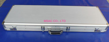 China Professional Aluminum Gun Case Silver Color Hard Gun Case With Logo Acceptable factory