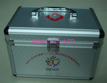 China Easy Carry Aluminium First Aid Box / Aluminum Doctor Cases Size L240 X W135 X H150mm factory