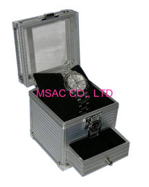 Easy Transport Aluminum Watch Case Box Silver Color For Protect Watches