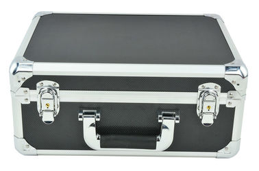 China Black Aluminum Tool Carrying Case 400*360*200mm, Aluminum Tool Briefcase For Sale factory