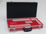 Red Aluminum Carrying Case , Light Weight Aluminium Hard Case With Foam